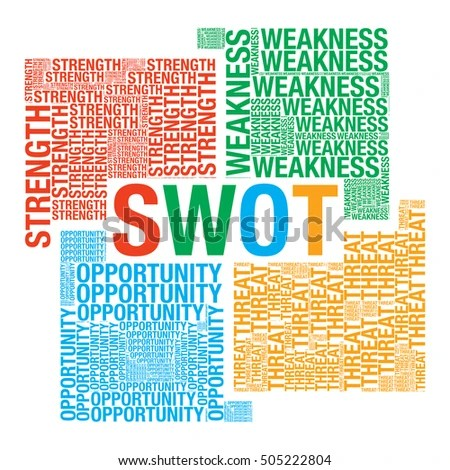 Swot Analysis Word Cloud Business Vector Stock Vector HD (Royalty