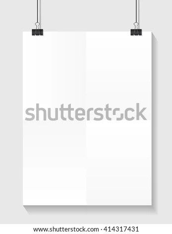Tear Off Stripes Paper Sheet Street Stock Vector 391232023 - white paper template