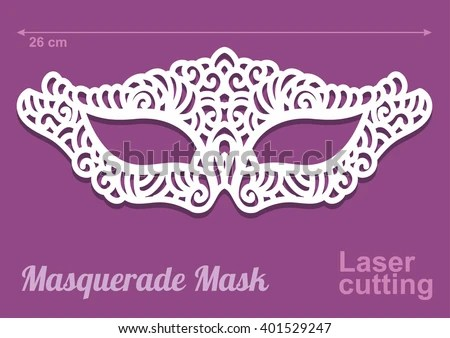 ... Beautiful Laser Cut Vector Die Masquerade Stock Vector 401529247   Masquerade  Mask Template ...