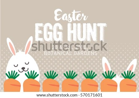 Easter Egg Hunt Poster Invitation Template Stock Photo (Photo - easter invitations template
