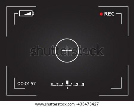 Camera Viewfinder Template Focusing Screen Camera Stock Illustration