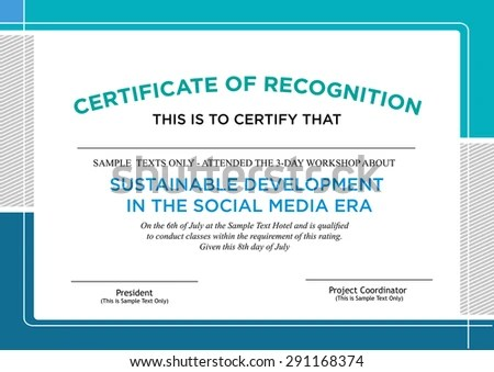 certificate of recognition samples – Certificate of Recognition Samples