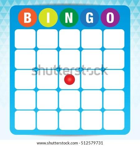 Blank Bingo Cards Vector Format Stock Vector 512579731 - Shutterstock - blank bingo card template
