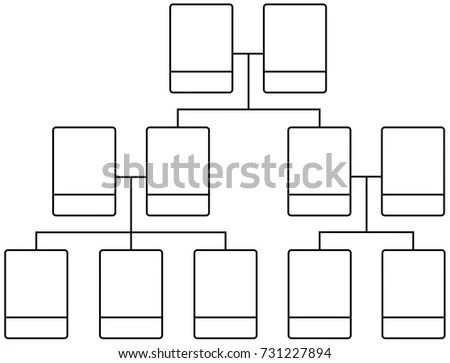Family Tree Team Structure Blank Template Stock Vector (2018