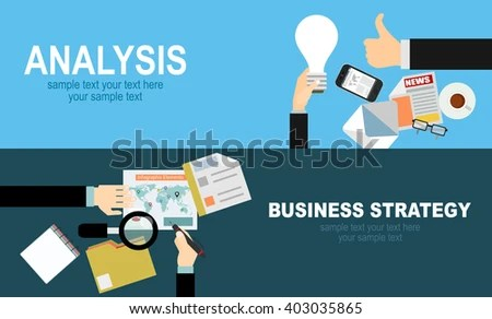 Flat Design Illustration Concepts Business Analysis Stock Vector - business analysis