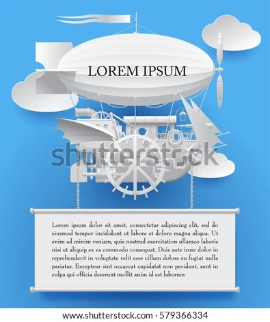 Vintage White Paper Steampunk Template Complex Stock Vector - white paper template