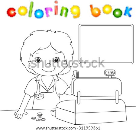 Boy Plastic Card Checkout Coloring Book Stock Illustration 311959361 - checkout a book