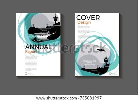 Emerald Green Modern Cover Design Modern Stock Photo (Photo, Vector