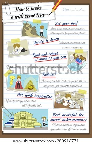 How Make Wish Come True Infographic Stock Vector HD (Royalty Free