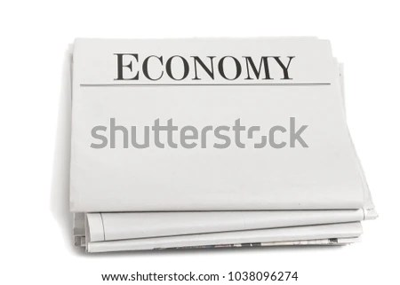 Newspaper Sections Economy Isolated On White Stock Photo 1038096274
