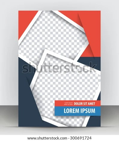 Magazine Flyer Brochure Cover Layout Design Stock Vector 300691724 - pamphlet layout template