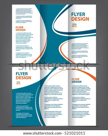 Vector Tri Fold Brochure Template Design Stock Vector (Royalty Free
