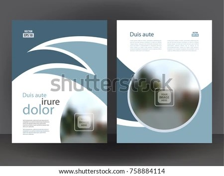 Flyer 2 Sided Brochure Cover Layout Design Stock Vector 758884114 - pamphlet layout template