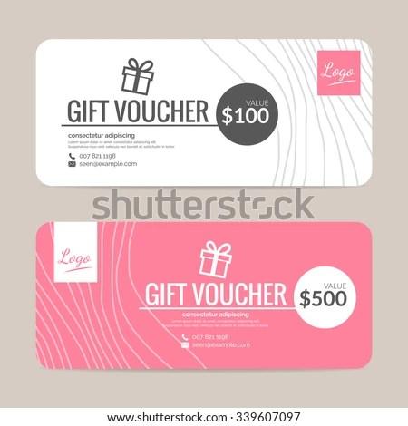Gift Voucher Template Eps 10 Vector Format Stock Vector 339607097