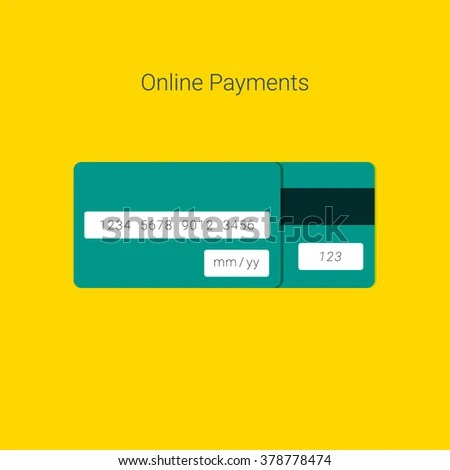 Online Payment Form Template Vector Credit Stock Vector 378778474