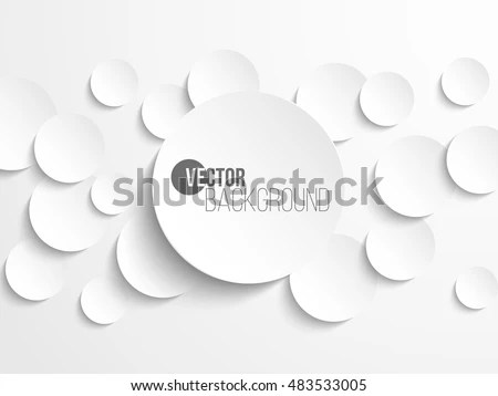 White Paper Template Mockup Drop Shadow Stock Vector 280032761 - white paper template