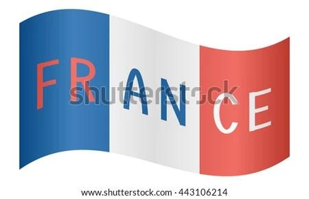 French Flag Word France Waving On Stock Vector 443106214 - Shutterstock - word flag