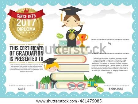 preschool graduation certificate templates - zaxa