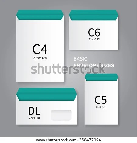 Vector Mockup Design 4 Types Stationery Stock Vector 358477994