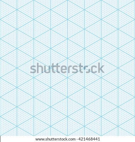 Isometric Graph Paper 3d Design Seamless Stock Vector 421468441 - 3d graph paper