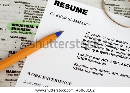 Close Resume Form Ads Concept Unemployment Stock Photo (Royalty Free