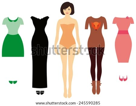paper doll body template - paper doll template