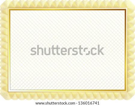 gold certificate border - Onwebioinnovate