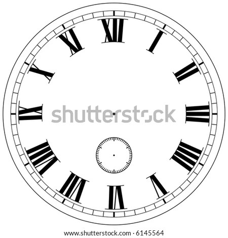 Precision Clock Face Template Isolated On Stock Illustration 6145564 - clock face template