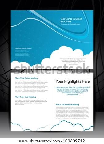 Double Fold Brochure Design Elemenr Vector Stock Vector 109609712 - double fold brochure