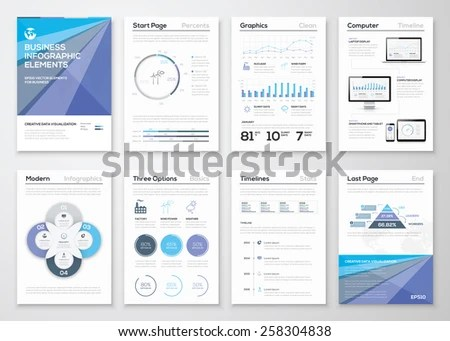 Data Visualization Brochures Infographic Business Templates Stock - line graphs template