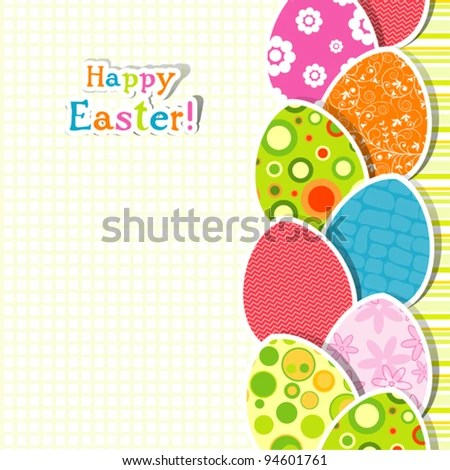 Template Easter Greeting Card Stock Illustration 123641668 - easter greeting card template