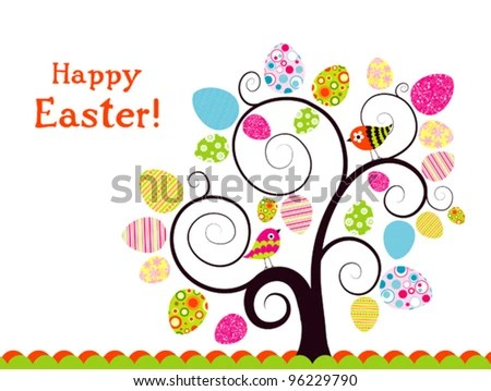 Template Easter Greeting Card Vector Illustration Stock Vector - easter greeting card template