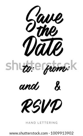 Save Date RSVP Elegant Hand Drawn Stock Vector 1009913902 - Shutterstock - rsvp e cards