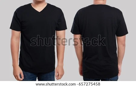 Black Tshirt Mock Up Front Back Stock Photo (Royalty Free) 657275458