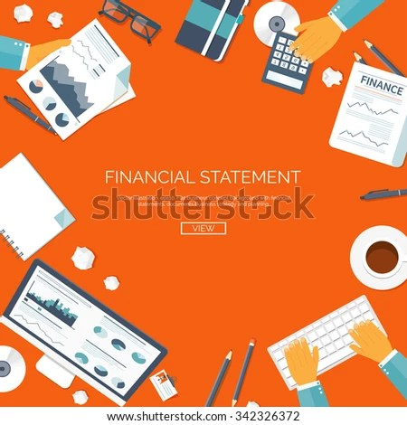 Vector Illustration Financial Statement Daily Report Stock Vector