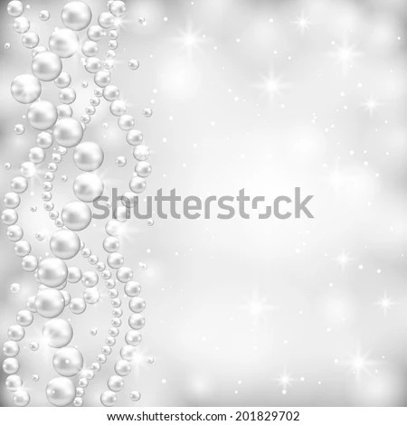 3d Snow Falling Wallpaper Gray Background Pearl Border Stock Vector 127238681