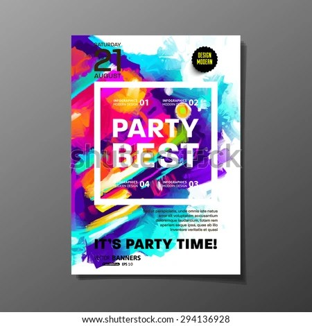 Party Flyer Template Vector Design Abstract Stock Vector 294136928 - party brochure template
