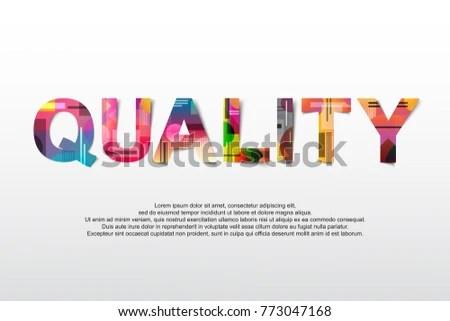 Quality Word Creative Design Concept Modern Stock Vector HD (Royalty