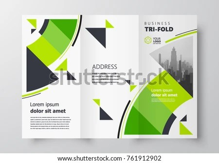 Trifold Business Brochure Design Template Creative Stock Vector - tri fold business brochure