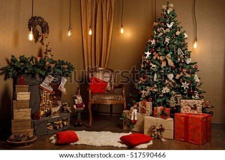 Christmas Room Stock Images, Royalty-Free Images \ Vectors - christmas room decorations
