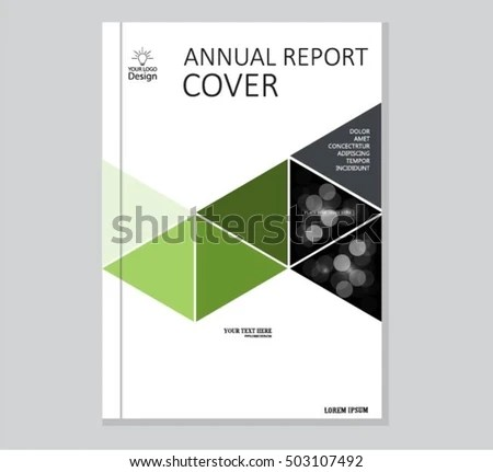 Annual Business Report Cover Template Booklet Stock Photo (Photo