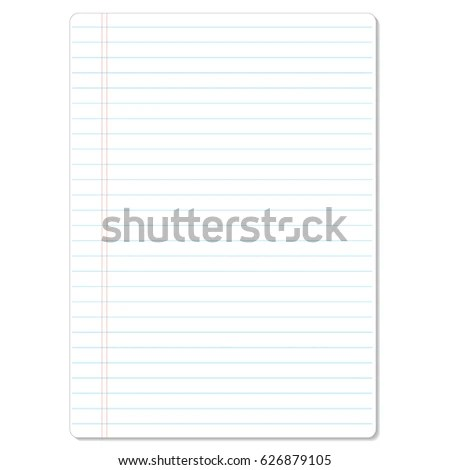 Notebook Lined Paper Background Texture Stock Vector HD (Royalty