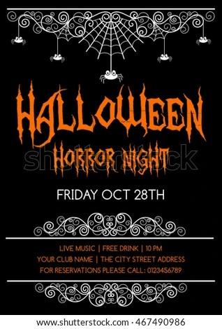 Halloween Invitation Stock Images, Royalty-Free Images \ Vectors - halloween invitation template