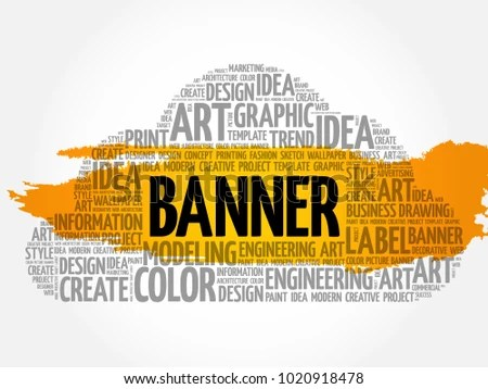 BANNER Word Cloud Creative Business Concept Stock Illustration
