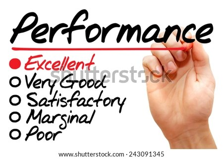 Hand Writing Performance Evaluation Form Business Stock Photo (Edit