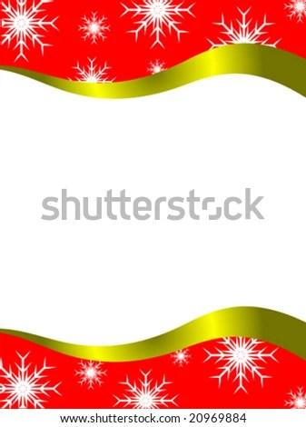 Vector Christmas Letter Stationary Top Bottom Stock Vector 20969884 - borders for christmas letter