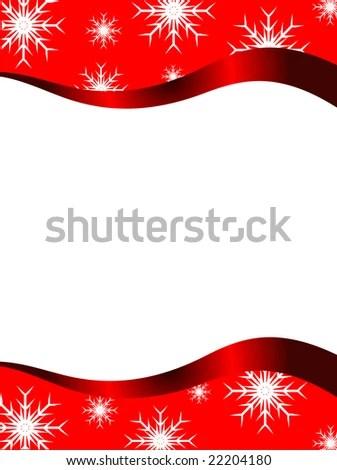 Christmas Stationary Top Bottom Christmas Borders Stock Illustration - borders for christmas letter