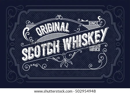 Vintage Label Design Whiskey Wine Label Stock Vector HD (Royalty - free wine label design