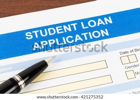 Student Loan Application Form Pen Stock Photo 421275352 - Shutterstock