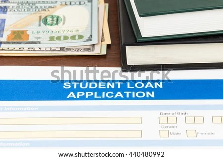 Student Loan Application Form Dollar Banknote Stock Photo 440480992 - students loan application form